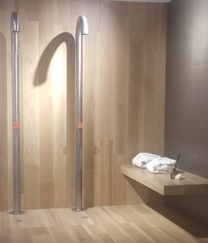 Wood effect shower area