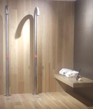 Wood effect shower area